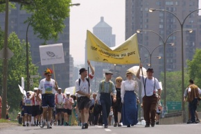 March on the occasion of the garden party marking the 125th anniversary of Mount Royal Park in 2001