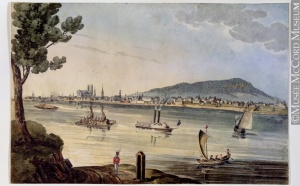 View of Montreal from Île Sainte-Hélène, 1830