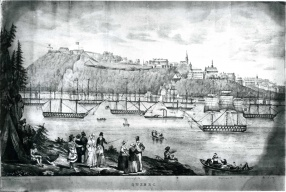 The warship Hastings arrives in Quebec City carrying Count Durham, Governor General of Canada, May 28, 1838