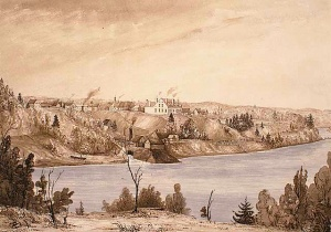 Mr. Bell's Forges on the St. Maurice River, near Trois-Rivières