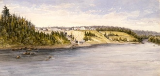 The Forges, St. Maurice River, Canada East, circa 1841-1842