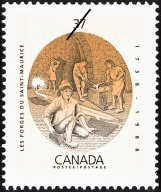 Commemorative Stamp, Les Forges du Saint-Maurice, 1738-1988