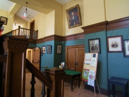 Lobby decorated with the portraits of former presidents of the Literary and Historical Society of Quebec, 2008