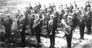 The Sacred Heart College Band in 1918