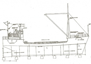 Design of the schooner Saint-André
