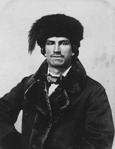 A mixed-blood fur trader, 1870