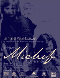 Poster advertising the 5th National Michif Conference