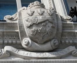 Quebec's coat of arms and motto