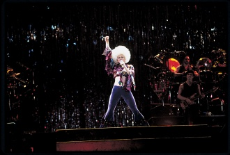 Madonna (Girlie Show Tour) onstage at the Olympic Stadium, October 23rd, 1993
