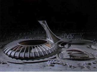 Model of the Olympic facilities, July 1974
