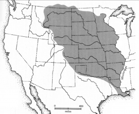 The Louisiana Territory ceded by Napoleon to the United States encompassed the western Mississippi Basin