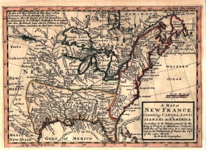 A 1717 map of New France showing Canada, Louisiana and France's other North American possessions