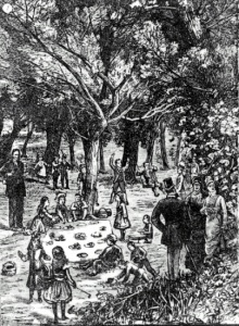 Strawberry Festival of the Montreal Protestant Orphan Asylum, 1879