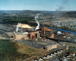 The Edmundston Fraser Paper Mill in 1965