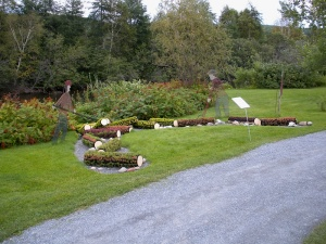 Decorative flowerbed: the Madawaska Log Drive