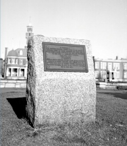 Commemorative plaque in honour of O Canada, avenue Laurier, Québec City, 1948