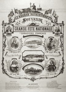Patriotic relic – the great French Canadian national celebration held in Québec City on June 24, 1880