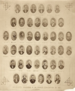 Acadian delegates to the second French Canadian national convention in Quebec City, 1880