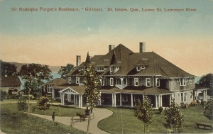 """Gil'Mont,"" Sir Rodolphe Forget's residence in Saint-Irénée, Quebec."