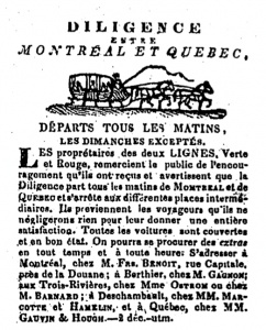 Merger of the Green and Red Stagecoach Lines in 1844