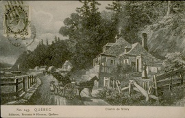 Postal card of a view of the road near Sillery