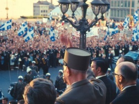 General de Gaulle Greets the Crowd, July 24th, 1967. City of Montreal Archives