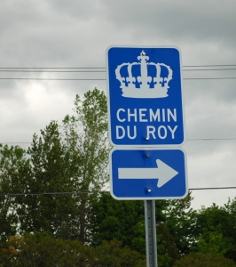 Sign for the Chemin du Roy [King's Highway], 2008