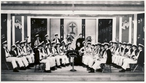 The College Mathieu Brass Band, February 1946