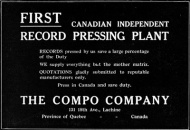 Publicity for the Compo company appearing in the Canadian Music Trades Journal in October 1919 (public property)