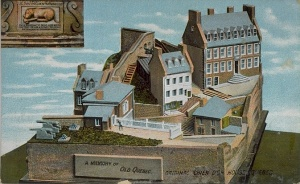 The house of the golden dog, Quebec City (postcard)