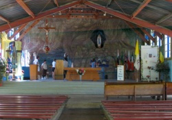 Inside the pilgrimage sanctuary, photo:  Laurier Gareau