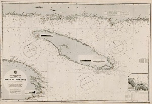 Maritime map of the mouth of the St. Lawrence