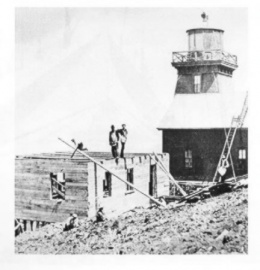 Marconi Wireless Telegraph Station, under construction in 1904.