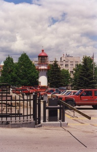 The lighthouse in exile in Quebec City.