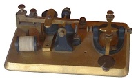 Morse key or manipulator: the tool needed to generate the Morse signals used in telegraphy.