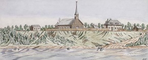 The Catholic church at the Red River Settlement, 1823