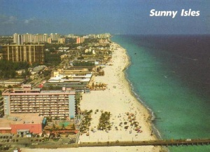 Postcard of Sunny Isles, before the arrival of the giant hotels