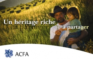 Detail of an ACFA poster promoting the use of French in Alberta