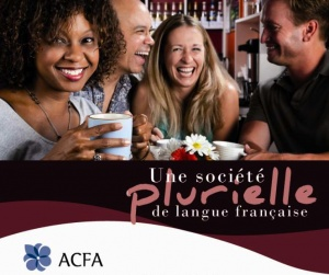 Detail of an ACFA poster promoting the use of French in Alberta.