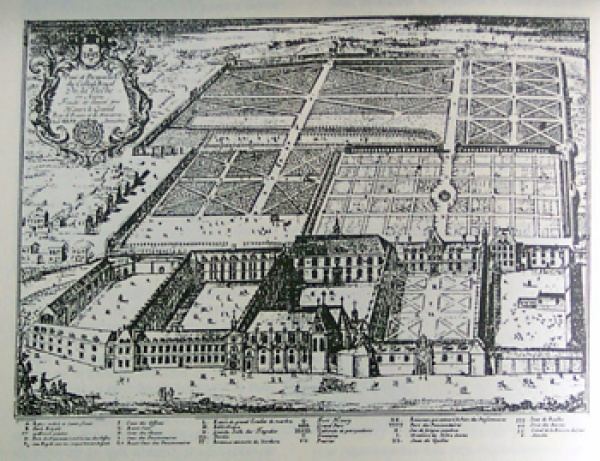The college in the second half of the 17th century, as shown in an engraving by Franz Ertinger. Private collection, photo by the author.
