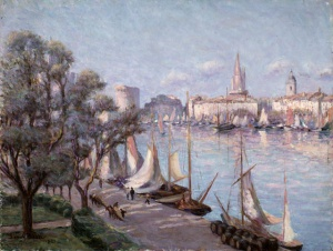The port of Rochelle, seen from Quai Valin (ca. 1921).
