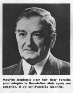 Premier Maurice Duplessis