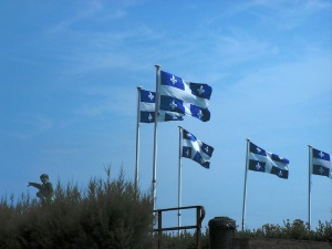 Quebec flags at Saint-Malo, France