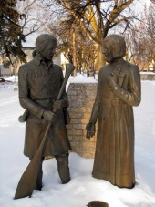 Monument commemorating Father Aulneau and Jean-Baptiste de La Vrendrye, David Dandeneau