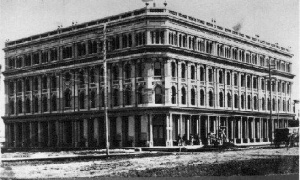 Cauchon Block/Empire Hotel, which was demolished in 1982. The façade was preserved, including some elements that were restored and incorporated into the wall of the Empire Room at the Centre du patrimoine.