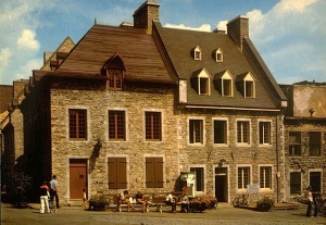 Le Picart House (1763) and Dumont House (1689) in Place-Royale, Quebec City