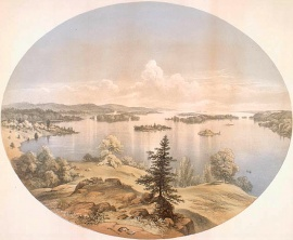 A Calm Summer Day in Mille-Îles, St. Lawrence River, Canada, 1860