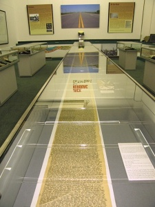 The manuscript of On the Road on exhibit at the Barber Institute in Birmingham, England, in 2008–2009.