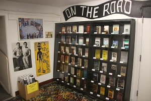 Various editions of On the Road, Jack Kerouac's celebrated novel, published in many languages, on exhibit at the Beat Museum in San Francisco in 2010.
