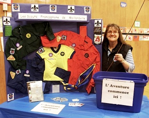 Maillardville Francophone Scouts booth at the Marché français, 2011